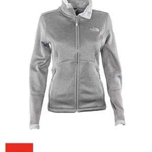 North Face Womens Agave Full Zip Grey Size Small
